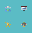 flat icons discussion administration show and vector image