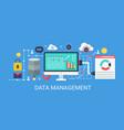 flat modern concept data management banner vector image vector image