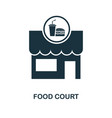 food court icon monochrome style design from city vector image vector image