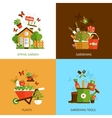 Gardening Design Concept vector image vector image