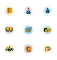 Gasoline icons set pop-art style vector image vector image