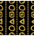 Geometric black and gold seamless pattern vector image vector image