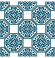 geometric pattern in blue and white colors vector image