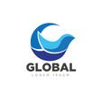 global bird business service logo designs modern vector image
