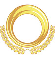 Golden Badge Ornament vector image vector image
