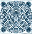 hand drawn floral pattern tile background grunge vector image vector image
