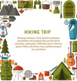 Hiking Trip Background vector image vector image