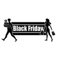 horizontal logo for black friday day satisfied vector image
