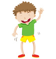 Little boy with curly hair laughing vector image vector image