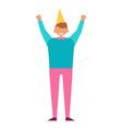 man celebrate birthday party in festive cap vector image vector image