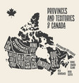 Map canada poster map provinces and
