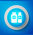 medical bottles icon tablets symbol health care vector image vector image