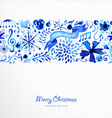 Merry Christmas hand drawn pattern vector image vector image