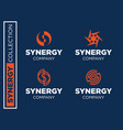 Modern professional set logos synergy