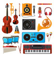 musical instrument isolate on white music vector image vector image
