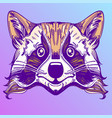 muzzle raccoon for creating sketches of tattoos vector image vector image