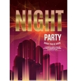 Night Party Purple Flyer Template - EPS10 vector image vector image