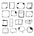 note pads speech bubbles and office icons vector image