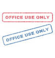 office use only textile stamps vector image vector image