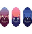 ramadan kareem islamic icon poster banner vector image vector image