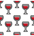 red wine in glass wineglass montenegrin drink vector image vector image