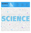 science thematic collection line icons vector image vector image