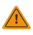 signal attention warning yellow isolated vector image vector image