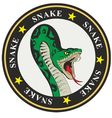 snake coat of arms vector image vector image