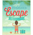 summer escape vector image vector image