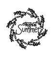 summer script text template vector image