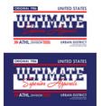 ultimate denim urban t-shirt and apparel design vector image vector image