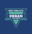 urban sport training athletic usa - typography vector image vector image