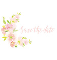 Watercolor greeting card flowers vector image