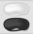 white and black blindfold mock up sleeping vector image vector image