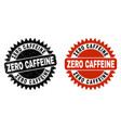 zero caffeine black rosette stamp seal with vector image vector image
