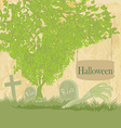 zombie hand coming out of his grave vector image