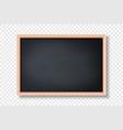 3d realistic blank black chalkboard wooden vector image