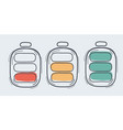 a battery charge status icon vector image