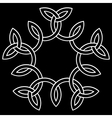 A flower-like knot vector image vector image