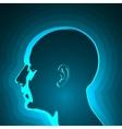 abstract profile human head vector image
