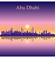 Abu Dhabi skyline silhouette background vector image vector image