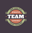 athletic team department - typography vintage logo vector image