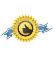 best choice medal - thumb up sign like gesture vector image vector image
