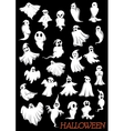 Big set of Halloween flying ghosts vector image vector image