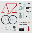 bike details isolated on white bicycle parts vector image vector image