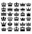 black crowns vector image vector image