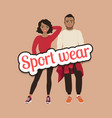 black people in sport wear concept vector image vector image