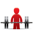 bodybuilder and weight vector image