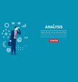 businessman character an analysis concept vector image vector image