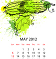 calendar with vegetables for 2012 may vector image vector image